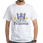 Mardi Gras Princess White T-Shirt