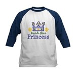 Mardi Gras Princess Kids Baseball Jersey