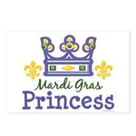 Mardi Gras Princess Postcards (Package of 8)