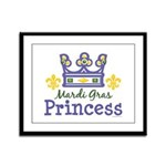 Mardi Gras Princess Framed Panel Print