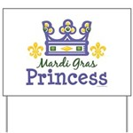 Mardi Gras Princess Yard Sign
