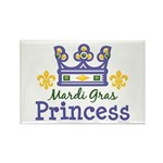 Mardi Gras Princess Rectangle Magnet