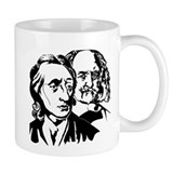 Locke and Hobbes - Double Cross Small Mugs!