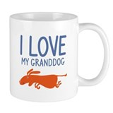 I Love My Granddog Coffee Mug