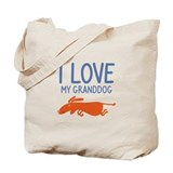 I Love My Granddog Tote Bag