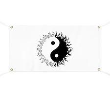 Ying yang Banner