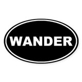 Wander Black Oval Oval Decal