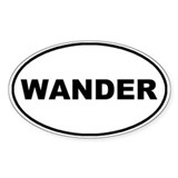 Wander Oval Oval Decal