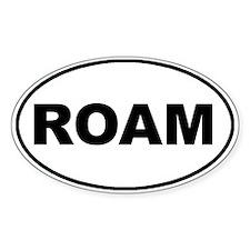 Roam Oval Oval Sticker (10 pk)