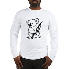 Koala (Black) Long Sleeve T-Shirt