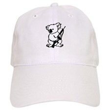 Koala (Black) Baseball Cap