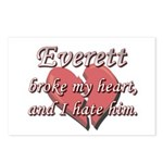 Everett broke my heart and I hate him Postcards (P