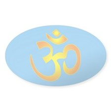 om sunburst Oval Decal