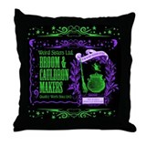 Broom &amp;amp; Cauldron Throw Pillow