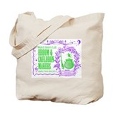 Broom &amp; Cauldron Tote Bag