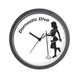 Domestic Diva Wall Clock