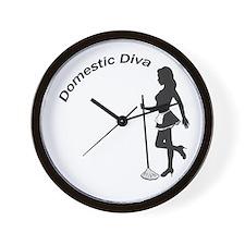 Domestic Diva Wall Clock