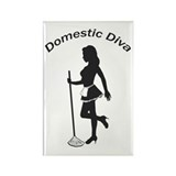 Domestic Diva Rectangle Magnet (100 pack)