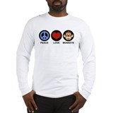 Peace Love Monkeys Long Sleeve T-Shirt