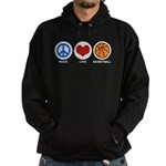 Peace Love Basketball Hoodie (dark)