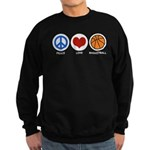 Peace Love Basketball Sweatshirt (dark)