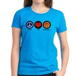 Peace Love Basketball Women's Dark T-Shirt