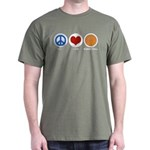 Peace Love Basketball Dark T-Shirt
