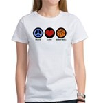 Peace Love Basketball Women's T-Shirt