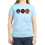 Peace Love Basketball Women's Light T-Shirt