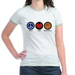 Peace Love Basketball Jr. Ringer T-Shirt