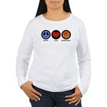 Peace Love Basketball Women's Long Sleeve T-Shirt