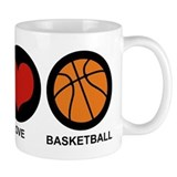 Peace Love Basketball Small Mug