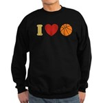I Love Basketball Sweatshirt (dark)