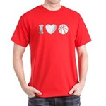 I Love Basketball Dark T-Shirt