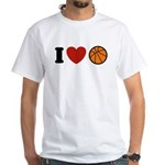 I Love Basketball White T-Shirt