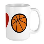 I Love Basketball Large Mug