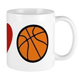 I Love Basketball Small Mug