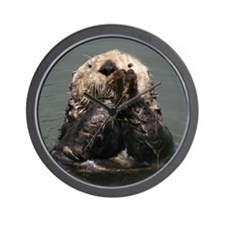 Cute Otter Wall Clock