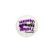 PEACE LOVE CURE Fibromyalgia (L1) Mini Button (10