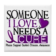 Needs A Cure CROHNS (L1) Tile Coaster