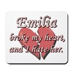 Emilia broke my heart and I hate her Mousepad