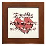 Emilia broke my heart and I hate her Framed Tile