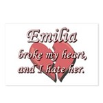 Emilia broke my heart and I hate her Postcards (Pa