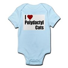 I Love Polydactyl Cats Infant Creeper