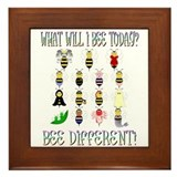 What Will I Bee Today Framed Tile