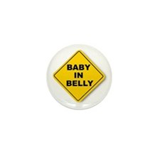 Baby in Belly Mini Button (10 pack)