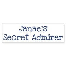 Janaes secret admirer Bumper Sticker (50 pk)