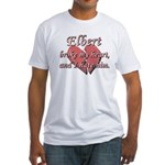 Elbert broke my heart and I hate him Fitted T-Shir