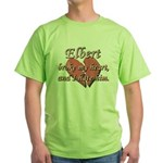Elbert broke my heart and I hate him Green T-Shirt