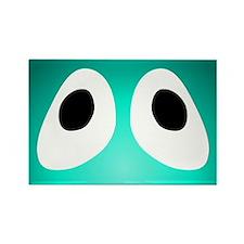 Teal Blob Eyes Rectangle Magnet